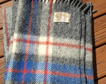 Vintage Tartan-Plaid Wool Blanket, Horner Woolen Company-picnic blanket- Bedding, Linens, Throw, Couch Blanket-stadium blanket-