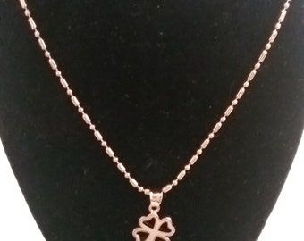 "30""  18k gold plated necklace with charm"
