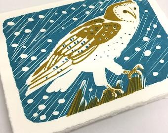Mini owl print