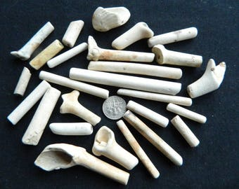 Victorian/Edwardian pipe stem pieces for crafts