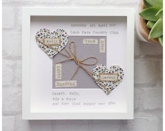 personalised wedding gift wedding keepsake gift engagement personalised frame wedding gift engagement gift anniversary gift box frame - Engagement Photo Frames