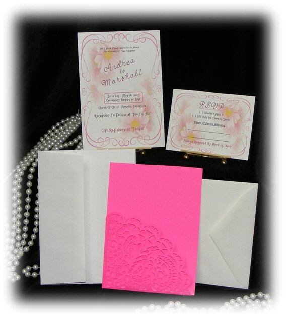 "The Andrea ""WEDDING INVITATIONS PLUS"" See Price List Inside"