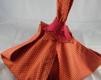 SacT023 - Orange and Red pattern pie bag