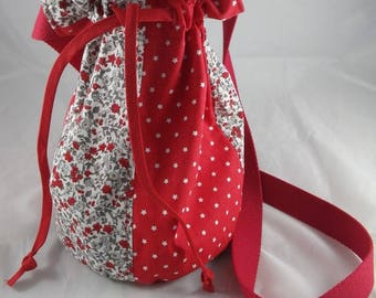 Sac017 - Stars and Red liberty pouch bag
