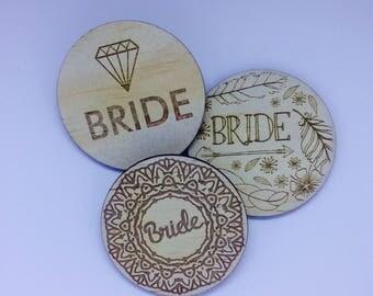 Bride Badge - single badge
