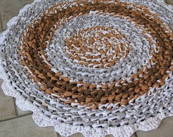 thick chunky round crochet rag rug kitchen rug crochet rag carpet farmhouse country