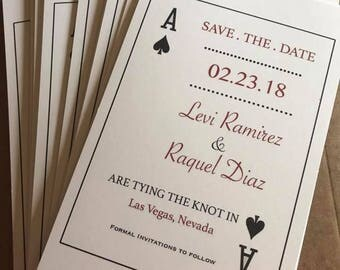 Customized Las Vegas Save The Dates