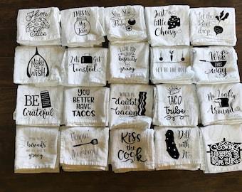 Kitchen Towel - Funny Towel - Utensils - Tea Towel - Flour Sack Towel