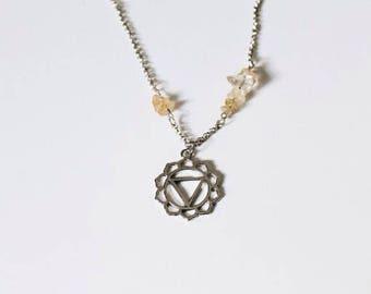 Solar Plexus Chakra Necklace + Citrine