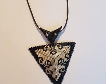 3D peyote triangle pendant