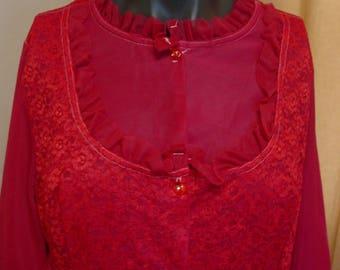 Vintage Fuchsia Robe 1960's GMC M/L