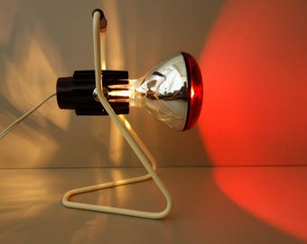 Vintage mid century design KL2901 Philips Infrared heat table desk lamp with original box and booklet 1950s Infraphil Dutch Holland