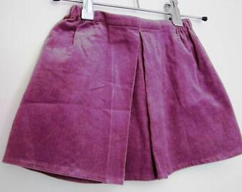 Lavender velvet Bohemian skirt