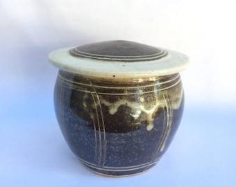 Handmade Lidded Stoneware Vessel