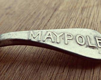 Rare 1920s Aluminium Advertising Maypole Tea Caddy Spoon