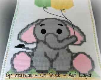 """Crocheted Baby Blanket """"Little Jumbo"""""""