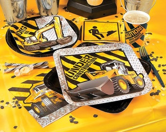 Construction Party Dinner Plates / Construction party Theme/ Dump Truck theme