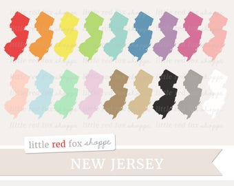 New Jersey Clipart, US State Clip Art, USA Clipart, State Clipart, America Clipart, Icon Cute Digital Graphic Design Small Commercial Use