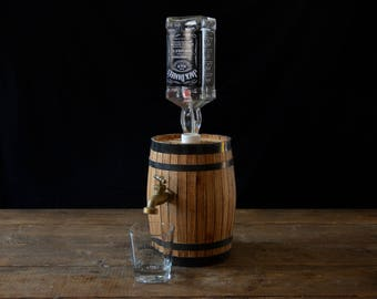 Handmade Wooden Whiskey Liquor Barrel Jack Daniel's replica, whiskey barrel, liquor barrel, jack Daniels barrel, liquor dispenser