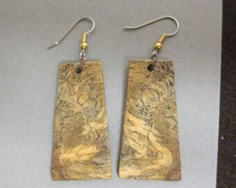 Exotic Wood Earrings Sindora Burl repurposed ecofriendly Handcrafted ExoticWoodJewelrynd