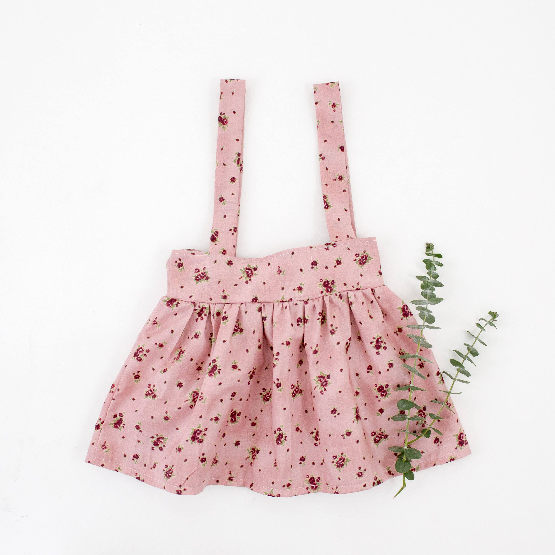 4T Floral Suspender Skirt Pinafore Dress Children s Dress Shabby