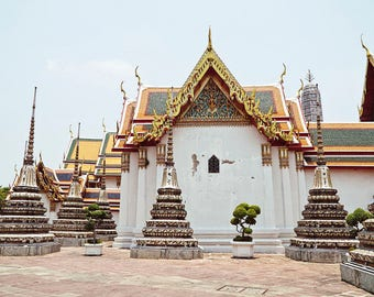 Thailand Temple Photo Bangkok Print Wat Pho Temple Wall Art Thailand Picture Asia Wall Decor Spiritual Art Bangkok Art Thailand Photography
