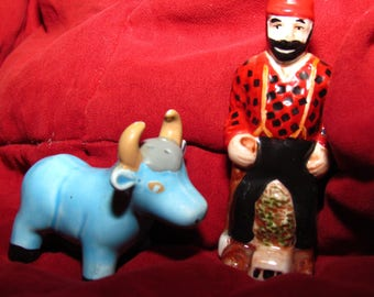 Paul Bunyan And Babe The Big Blue Ox Salt And Pepper