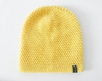 Crochet Slouchy Hat | Yellow | iLux Merino