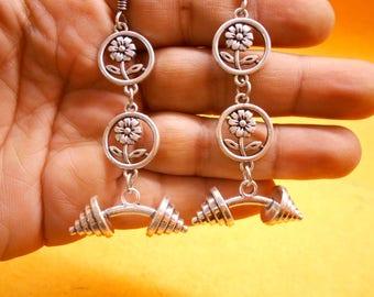 Ethnic Traditional Alloy .925 Silver Plated Afgani Boho Jhumka Jhumki Earring EN5422