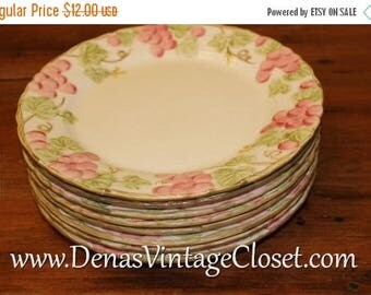 "Summer Clearance Sale Vintage Pink Poppytrail by Metlox 10 1/2"" Dinner Plate Hand Painted"