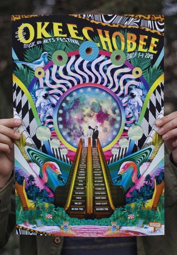 Okeechobee Festival 2018 Poster Bassnectar Print