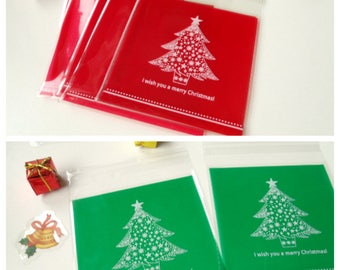 10 pockets FIR 10cmx10cm transparent gift bags