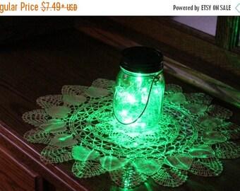 July Sales Event Mason Jar Solar Fairy Light - 10 LED Green Angel Lights - Firefly Lights - solar mason jar, fairy lights, mason jar solar l