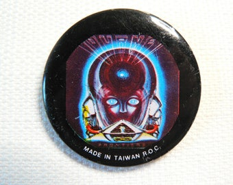 Vintage Early 80s - Journey - Frontiers Album (1983) Promotional All Metal Pin / Button / Badge