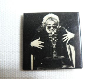 Vintage 80s Grateful Dead / Jerry Garcia - Guitar Magician - Pin / Button / Badge