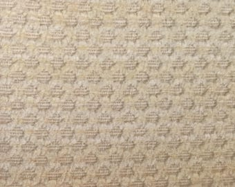 Neutral Honeycomb Upholstery Fabric by The Yard