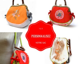 Customize retro handbag