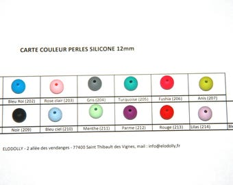 Silicone bead 10mm