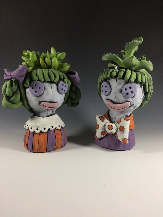 Cid and Nancy Dolls // Doll Planters // Succulent Pots // Unique Gifts // Pottery // Small Sculpture // Potheads // Original