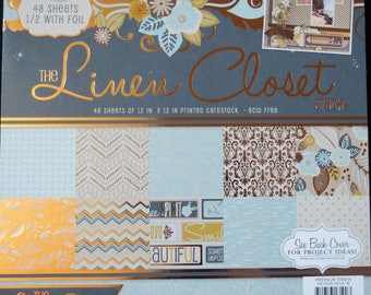 Linen Closet 12x12 Premium Cardstock Paper Pack w/Foil by DCWV **Free Shipping**