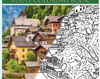Hallstatt Austria Adult Coloring Book: A World Heritage Site