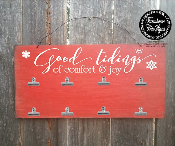 Good Tidings of Comfort and Joy Car/Photo Holder