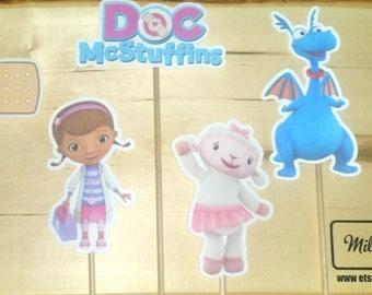 Doc McStuffins Inspired Centerpiece Character on a Stick