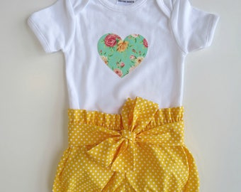 Size 1 Bodysuit and Bloomers Set