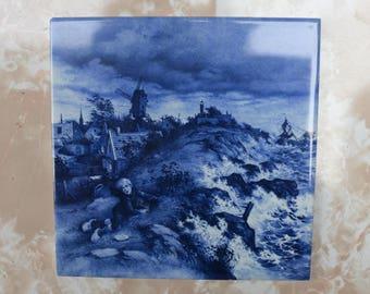 Beautiful - Holland - Antique Delft Blue Tile -  number 2