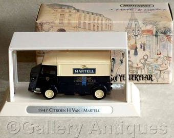 Vintage 1993 Matchbox Diecast of a 1947 Citroen Type 'H' Van 'Martell' from A Taste of France Series Models of Yesteryear YTF2 (ref: 3186)