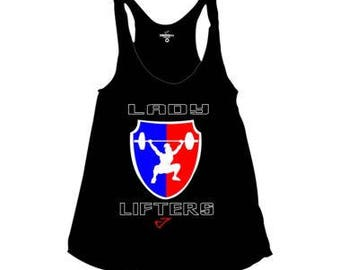 Lady Lifters american apparel tank conquer gear