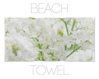 Floral Beach Towel, Lilac Flowers, Photo Towel, Floral Towels, Beach Towels Large, Beautiful Beach Towel