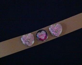Costume jewelry: Bracelet model 3 snap button