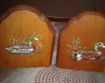 Wood Duck Bookends